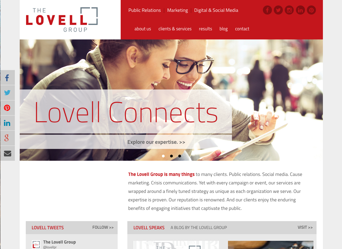 Lovell home page